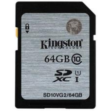 Kingston 64GB SD Card SDHC/SDXC Class10 UHS-I Flash Memory 45MB/s Read 10MB/s Write Full HD for Photo Video Camera Waterproof Shock Proof SD10VG2/64GBFR