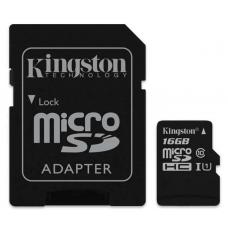 Kingston 16GB MicroSD SDHC SDXC Class10 UHS-I Memory Card 45MB/s Read 10MB/s Write with standard SD adaptor SDC10G2/16GBFR