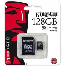 Kingston 128GB MicroSD SDHC SDXC Class10 UHS-I Memory Card 80MB/s Read 10MB/s Write with standard SD adaptor ~SDC10G2/128GBFR FMK-SDC10G2-128 SDCS/128GB