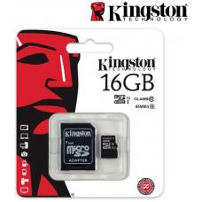 Kingston 16GB MicroSD SDHC SDXC Class10 UHS-I Memory Card 80MB/s Read 10MB/s Write with standard SD adaptor ~FMK-SDC10G2-16 SDC10G2/16GBFR SDCS/16GB