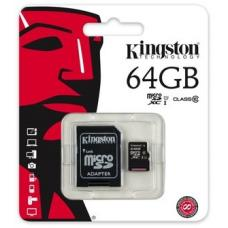 Kingston 64GB MicroSD SDHC SDXC Class10 UHS-I Memory Card 45MB/s Read 10MB/s Write with standard SD adaptor ~FMK-SDC10G2-64 SDC10G2/64GBFR SDCS/64GB