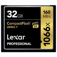 Lexar 1066x 32GB Compact Flash CF Card Upto 160MB/s VPG-65 Standard LCF32GCRBANZ1066