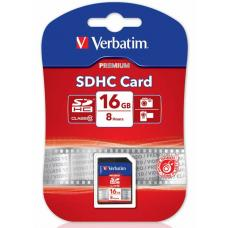 Verbatim SDHC 16GB (Class 10) Up to 45MB/Sec 300X read speed 43962