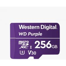 Western Digital WD Purple 256GB MicroSDXC Card 24/7 -25C to 85C Weather & Humidity Resistant for Surveillance IP Cameras mDVRs NVR Dash Cams Drones  WDD256G1P0A