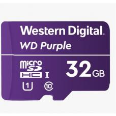 Western Digital WD Purple 32GB MicroSDXC Card 24/7 -25C to 85C Weather & Humidity Resistant for Surveillance IP Cameras mDVRs NVR Dash Cams Drones WDD032G1P0A
