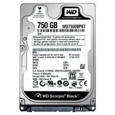 WD Black 750GB SATA3 9.5mm 2.5' 7200RPM 6Gb/s 16MB Cache WD7500BPKX