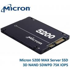 Micron 5200 MAX 240GB 2.5' SATA3 6Gbps 7mm Server Data Centre SSD 3D TLC NAND 540R/310W MB/s 88K/53K IOPS 5DWPD 3 Mil hrs 5yrs ~SSDSC2KB240G801 MTFDDAK240TDN-1AT1ZABYY