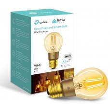 TP-Link KL60 Kasa Filament Smart Bulb, Warm Amber, Edison Screw, Dimmable, No Hub Required, Voice Control, 2000K, 5kWh/1000h, 2.4 GHz, 2 Year Warranty KL60