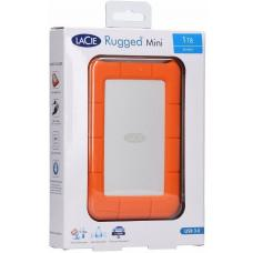 Seagate LaCie 1TB Rugged Mini Portable USB 3.0, USB-C Cable. External HDD LAC301558, 2 Years Warranty LAC301558