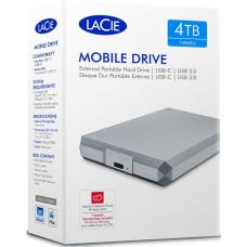 Seagate LaCie 4TB 2.5' Silver USB 3.0 to USB-C Diamond Cut External HDD. STHG4000400. 2 Years Warranty STHG4000400