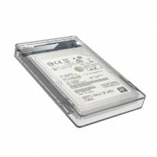 Simplecom SE203 Tool Free 2.5' SATA HDD SSD to USB 3.0 Hard Drive Enclosure - Clear Enclosure SE203-CLEAR