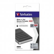 Verbatim USB 3.1 Store'n'Go Secure SSD w/Keypad Access 256GB - Black 53402
