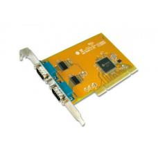 Sunix SER5037A Dual Port Serial IO Card PCI Card - Dual Port Serial 2 RS-232 Serial Ports Speeds up to 115.2Kbps COMCARD-2P