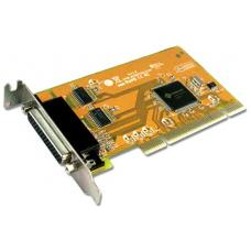 Sunix MIO5079AL 2-port RS-232 & 1-port Parallel Universal PCI Low Profile Multi-I/O Board; peed up to 115.2Kbps; Support Microsoft Windows, Linux MIO5079AL