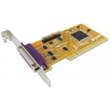 Sunix ParallelIEEE1284 Card 2-Port, PCI Interface, Support Microsoft Windows, Linux, and DOS. PAR5018A