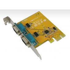 Sunix PCIE 2 Port Serial Card Full Height Expansion RS-232 - It is compatible with PCI Express x1, x2, x4, x8 and x16 lane SER6437A