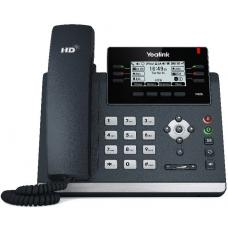 Yealink T42S (Skype for Business Edition) 12 Line IP phone, 2.7'192x64 pixel graphical LCD with backlight, Dual Gigabit Ports, 6 Program keys SIP-T42S-SFB