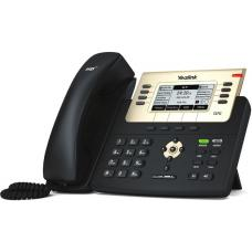 Yealink T27G 6 Line IP phone, 240x120 LCD, 21 Program keys/BLF/XML/PoE/HDV/EHS support/Dual Gigabit Ports. No Power Adapter included SIP-T27G