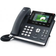 Yealink T46S 16 Line IP phone, 4.3' 480x272 pixel colour display with backlight, Dual Gigabit Ports, 10 Program keys/BLF/XML/HDV, 1 USB port- IPF-X6 SIP-T46S