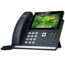Yealink T48S 16 Line IP phone, 7' 800x480 pixel colour touch screen, Optima HD voice, Dual Gigabit Ports, 1 USB port for BT40/WF40/Recording, Opus Sup SIP-T48S