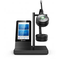 Yealink WH66 Dual UC DECT Wirelss Headset With Touch Screen, Busylight On Headset, Leather Ear Cushions WH66 Dual UC