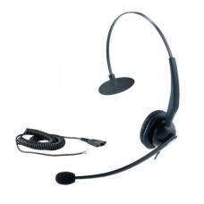 Yealink YHS33 Wideband Headset for Yealink IP Phone, RJ9 Connection, Over the Head, Mono, Noise Cancelling Microphone, Plug and Play YHS33