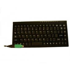 8Ware Compact Mini Ergonomic Keyboard USB & PS2 Black 89 Keys Multimedia Keyboard with 10 hot keys KB-MINIUP