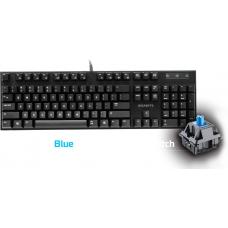 Gigabyte FORCE K83 Mechanical Gaming Keyboard Cherry MX Blue Switch Anti-ghosting Function & Windows-lock hotkeys Wear Resistant Keycaps FORCE-K83-BLUE