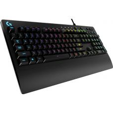 Logitech G213 Prodigy RGB Gaming Keyboard, 16.8 Million Lighting Colors Mech-Dome Backlit Keys Dedicated Media Controls Spill-Resistant Durable Design 920-008096