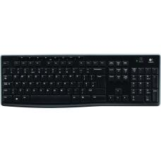 Logitech K270 2.4 GHz Wireless Full Size Keyboard 128-bit AES encryption 24-month battery life Spill resistant Durable UV-coated keys - 920-003057 920-003057