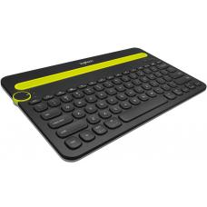 Logitech K480 Bluetooth Wireless Multi Device Keyboard Black for PC Smartphone Tablet Windows Mac Android iOS - 920-006380 920-006380