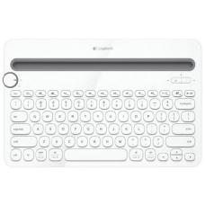 Logitech K480 Bluetooth Wireless Multi Device Keyboard White for PC Smartphone Tablet Windows Mac Android iOS 920-006381