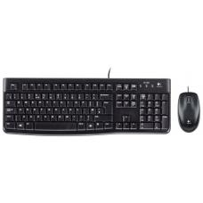 Logitech MK120 Keyboard & Mouse Combo Quiet typing and Spill resistant High-definition optpical tracking Thin profile 3yr wty 920-002586