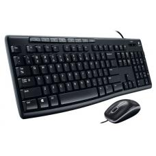 Logitech MK200 Media Keyboard and Mouse Combo 1000dpi USB 2.0 Full-size Keyboard Thin profile Instant access to applications 920-002693