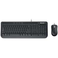 Microsoft Wired Desktop 600 K&M USB Black Mouse & Keyboard Combo - Spill Resistant, Retail Pack APB-00018