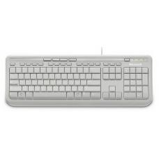 Microsoft Wired 600 Keyboard Only USB, 3 Year, ANB-00034 Retail Pack, White ANB-00034