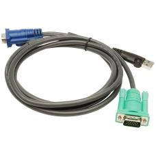 Aten 1.8m 3in1 VGA, USB Console KVM Split Cable HDB-15M to SPHD-15M 2L-5202U