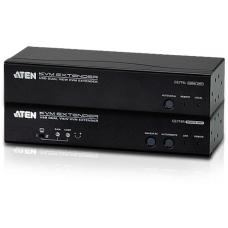 Aten USB Dual VGA Cat 5 KVM Extender (1600 x 1200@150m);1920 x 1200 @ 60Hz (30 m), RS-232, Audio CE774-AT-U