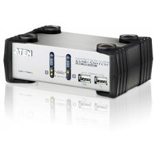 Aten 2 Port USB VGA KVMP Switch with audio, 2 VGA USB KVM Cables included CS1732AC-AT