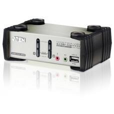 Aten 2 Port USB KVMP Switch with audio and OSD / USB 2.0 Hub - Cables Included CS1732B-AT-U