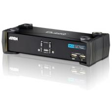 Aten 2 Port USB DVI KVMP Switch with Audio and USB 2.0 Hub - Cables Included CS1762A-AT