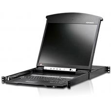 Aten 8 Port Rackmount USB-PS/2 Cat5 19' LCD KVM Over IP Switch with Daisy Chain KL1508AIN-AXA-AU
