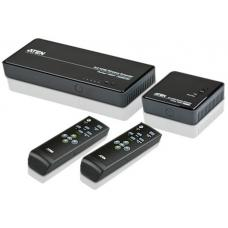 Aten 5x2 HDMI Wireless Extender, supports 1080p @ 30m, supports up to 4 HDMI sources and 1 component source, local HDMI output on transmitter(LS) VE829-AT-U