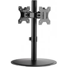 Brateck Articulating Pole Mount Single Dual Monitors Stand Fit Most 17'-32' Monitors Up to 8kg per screen LDT40-T02