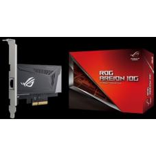 ASUS ROG AREION 10G Superfast 10G speed with backwards compatibility of 5/2.5/1G and 100Mbps; full-sized heatsink and LAN speed indicators ROG AREION 10G