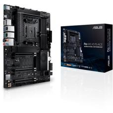 ASUS WS AMD AM4 X570 ATX Workstation MB. 3 PCIe 4.0 x16, 14 IR3555 Power Stages, DDR4 ECC Memory Support, Intel Gigabit LAN, Dual M.2 PRO WS X570-ACE