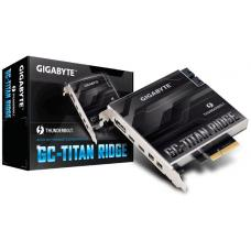 Gigabyte TITAN Ridge rev1 Dual Thunderbolt 3 Card for Z390 H370 B360 Z370 Series 3 Ports USB-C 40 Gb/s DisplayPort 1.2 4K Daisy-chain up to 12 Devices GA-TITAN_RIDGE