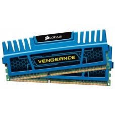 Corsair Vengeance 8GB (2x4GB) DDR3 1600MHz C9 Desktop Gaming Memory Blue CMZ8GX3M2A1600C9B