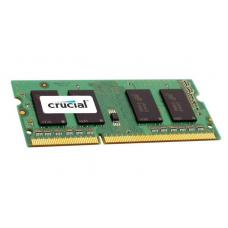 Crucial 4GB (1x4GB) DDR3 SODIMM 1600MHz 1.35V Dual Ranked Single Stick Notebook Laptop Memory RAM CT51264BF160B
