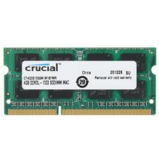 Crucial 4GB (1x4GB) DDR3 SODIMM 1333MHz for MAC 1.35V Single Stick Desktop for Apple Macbook Memory RAM CT4G3S1339M